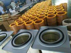 PTFE覆膜聚酯布高效空气滤筒